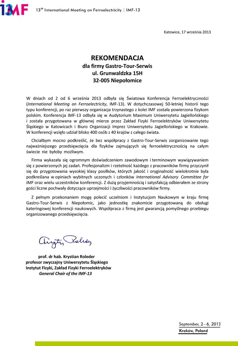 referencje_Swiatowa_Konferencje_Ferroelektryczności