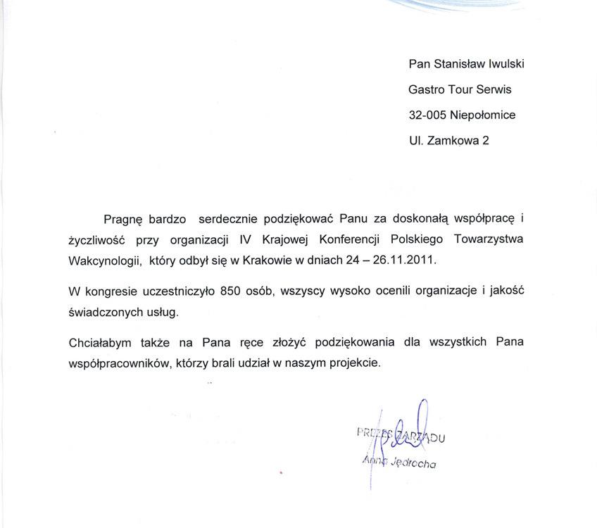 referencje Symposium Cracovience