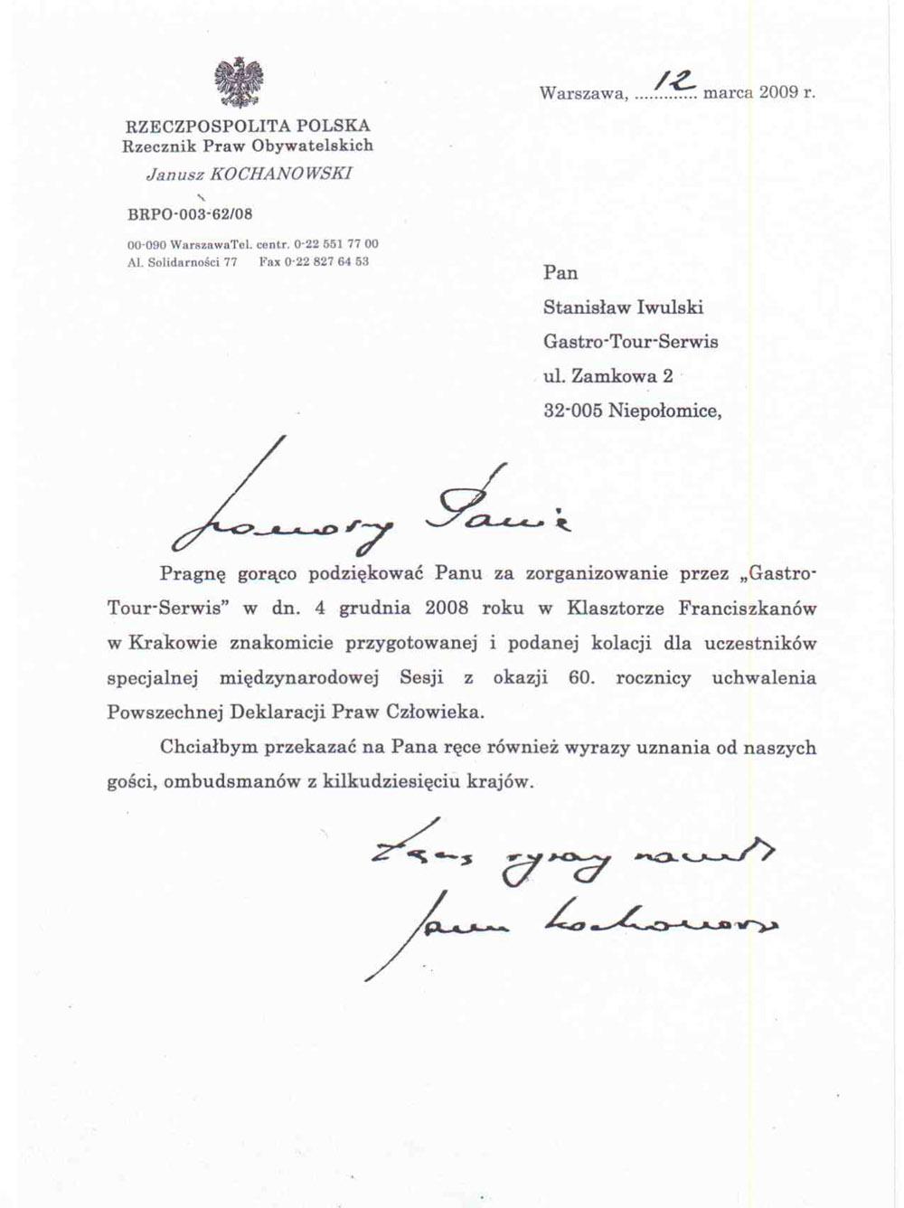 referencje Rzecznik Praw Obywatelskich