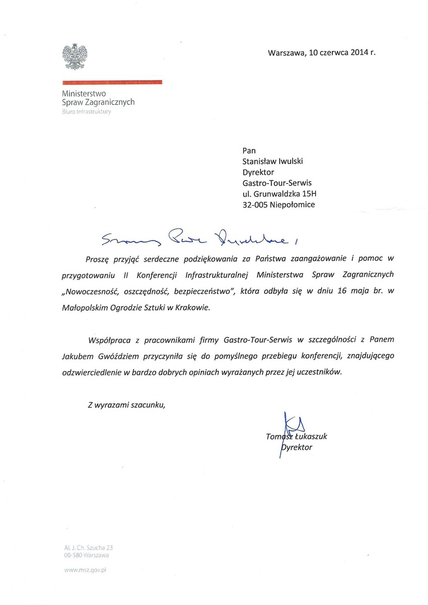 referencje MSW konferencji w Ogrodzie Sztuki w Krakowie