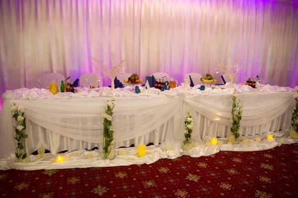 stół pary młodej